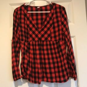 Old Navy Buffalo Plaid top